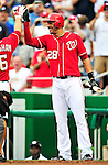 15 August 2010: Washington Nationals right fielder Michael Morse in action against the Arizona Diamondbacks at Nationals Park in Washington, DC. The Nationals defeated the Diamondbacks 5-3 to take the rubber match of their 3-game series. Mandatory Credit: Ed Wolfstein Photo