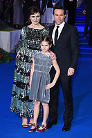 """LONDON, UK. December 12, 2018: Emily Mortimer, Alessandro Nivola & daughter May at the UK premiere of """"Mary Poppins Returns"""" at the Royal Albert Hall, London.<br /> Picture: Steve Vas/Featureflash"""