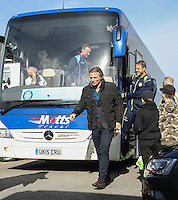 Wycombe Wanderers Manager Gareth Ainsworth arrives for the Sky Bet League 2 match between Grimsby Town and Wycombe Wanderers at Blundell Park, Cleethorpes, England on 4 March 2017. Photo by Andy Rowland / PRiME Media Images.