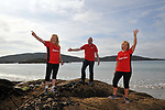 8-7-2017: Ann O'Sullivan, Pat Forde and Angela Collins pictured walking on Derrynane Strand in County Kerry on Saturday in the Kerry Way Walk in aid of Breakthrough Cancer Research. The three day charity walk around South Kerry attracts walkers from all over Ireland and has raised over &euro;670,000 in its 14 year history.<br /> Photo Don MacMonagle<br /> <br /> Repro free photo breakthrough cancer research