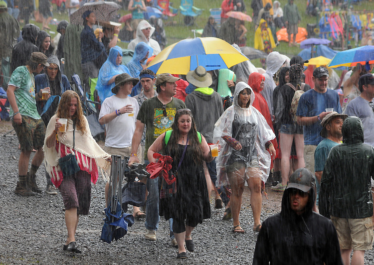 seen during a period of rain at Mountain Jam Music Festival of 2015, in Hunter, NY on Friday June 5, 2015. Photo by Jim Peppler. Copyright Jim Peppler 2015.