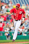 15 August 2010: Washington Nationals third baseman Ryan Zimmerman rounds the bases after hitting a home run against the Arizona Diamondbacks at Nationals Park in Washington, DC. The Nationals defeated the Diamondbacks 5-3 to take the rubber match of their 3-game series. Mandatory Credit: Ed Wolfstein Photo