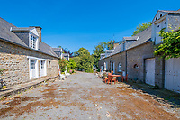 BNPS.co.uk (01202 558833)<br /> Pic: LeggettPrestige/BNPS<br /> <br /> PICTURED: The property includes equestrian facilities including 12 stables, as well as paddocks, a barn and a cottage.<br /> <br /> <br /> A luxurious French chateau in a village liberated by the celebrated US general George Patton in World War Two has gone on the market for £1.35million.<br /> <br /> A stunning 19th century French chateau has emerged on the market for £1.35million - the same price as a terraced house in London.<br /> <br /> The Normandy property, located on the edge of the Bay of Mont Saint Michel, has 10 bedroom suites and is set in 14 hectares of manicured parkland.