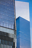 Architectural Detail, One World Trade Center West Elevation at Dusk. 20 May 2015