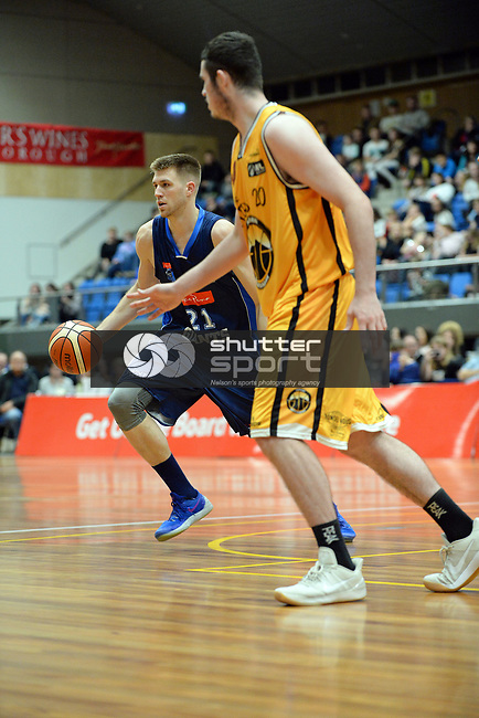 NELSON, NEW ZEALAND - APRIL 29: NBL Nelson Giants v Taranaki Mountainairs, April 29, 2017, Trafalgar Centre, Nelson, New Zealand. (NOTE: Editorial Use ONLY. (Photo by: Barry Whitnall Shuttersport Limited)