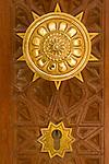 An intricate door handle of the Sultan Qaboos Grand Mosque, Muscat, Oman.