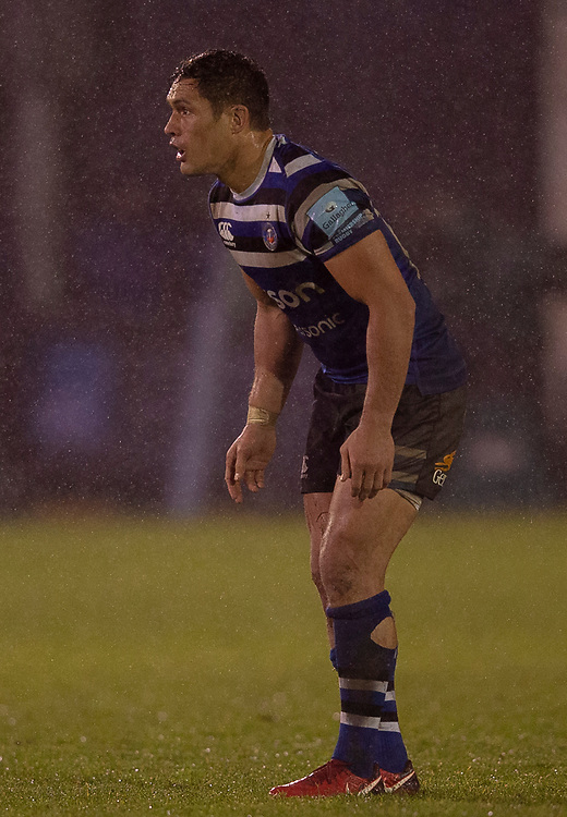 Bath Rugby's Jackson Willison<br /> <br /> Photographer Bob Bradford/CameraSport<br /> <br /> Gallagher Premiership Round 9 - Bath Rugby v Sale Sharks - Sunday 2nd December 2018 - The Recreation Ground - Bath<br /> <br /> World Copyright © 2018 CameraSport. All rights reserved. 43 Linden Ave. Countesthorpe. Leicester. England. LE8 5PG - Tel: +44 (0) 116 277 4147 - admin@camerasport.com - www.camerasport.com