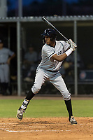 AZL White Sox right fielder Anderson Comas (23) at bat during an Arizona League game against the AZL Cubs 2 at Sloan Park on July 13, 2018 in Mesa, Arizona. The AZL Cubs 2 defeated the AZL White Sox by a score of 6-4. (Zachary Lucy/Four Seam Images)