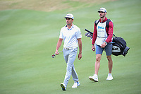 Rafael Cabrera Bello (ESP) and his caddie/brother make their way down 6 during day 3 of the World Golf Championships, Dell Match Play, Austin Country Club, Austin, Texas. 3/23/2018.<br /> Picture: Golffile | Ken Murray<br /> <br /> <br /> All photo usage must carry mandatory copyright credit (&copy; Golffile | Ken Murray)