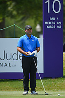 Patrick Reed (USA) looks over his tee shot on 10 during round 4 of the WGC FedEx St. Jude Invitational, TPC Southwind, Memphis, Tennessee, USA. 7/28/2019.<br /> Picture Ken Murray / Golffile.ie<br /> <br /> All photo usage must carry mandatory copyright credit (© Golffile | Ken Murray)