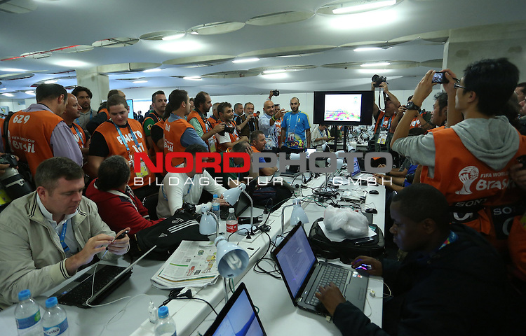 2014 Fifa World Cup opening ceremony at the Arena Corinthians in Sao Paulo. Press room<br /> <br /> Foto &copy;  nph / PIXSELL / Sajin Strukic
