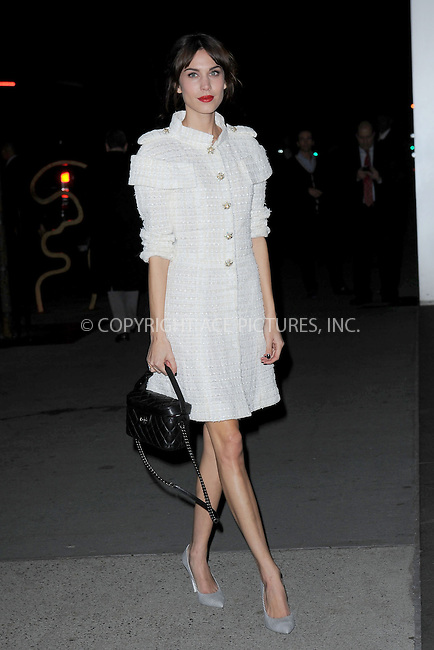 WWW.ACEPIXS.COM<br /> November 5, 2013...New York City<br /> <br /> Alexa Chung attends The Museum of Modern Art Film Benefit: A Tribute to Tilda Swinton reception at Museum of Modern Art on November 5, 2013 in New York City.<br /> <br /> <br /> Byline: Kristin Callahan/Ace Pictures<br /> <br /> ACE Pictures, Inc.<br /> tel: 646 769 0430<br />       212 243 8787<br /> e-mail: info@acepixs.com<br /> web: http://www.acepixs.com