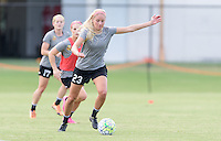 Houston, TX - Thursday Oct. 06, 2016: Courtney Niemiec during training prior to the National Women's Soccer League (NWSL) Championship match between the Washington Spirit and the Western New York Flash at BBVA Compass Stadium.