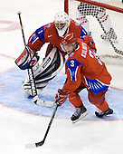 Vadim Zhelobnyuk (Russia - 1), Dmitri Kulikov (Russia - 3) - Canada defeated Russia 6-5 on Saturday, January 3, 2009, at Scotiabank Place in Kanata (Ottawa), Ontario during the 2009 World Junior Championship.