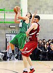 2016-01-09 / Basketbal / Seizoen 2015-2016 / Guco Lier - Kontich Wolves / Van der Vloet (Kontich) probeert Van den Bogaert af te stoppen<br /><br />Foto: Mpics.be