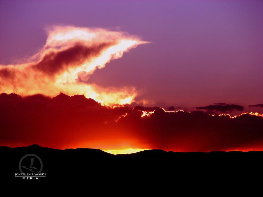 Dramatic Sunset in Peru