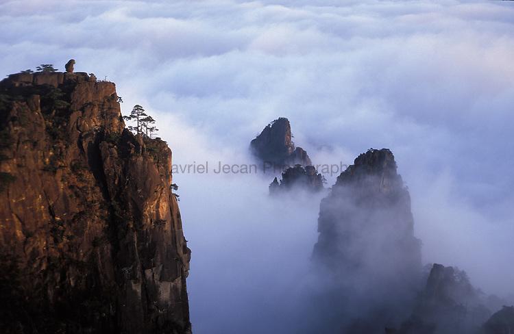Asia, China, Huanshan. The Yellow Mountain
