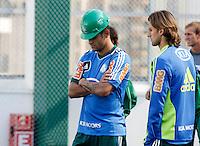 SÃO PAULO,SP,06 AGOSTO 2012 - VISITA JOGADORES OBRAS ARENA PALESTRA<br /> Jogadores do Palmeiras visitaram na tarde de hoje as obras da Arena Palestra.FOTO ALE VIANNA/BRAZIL PHOTO PRESS.