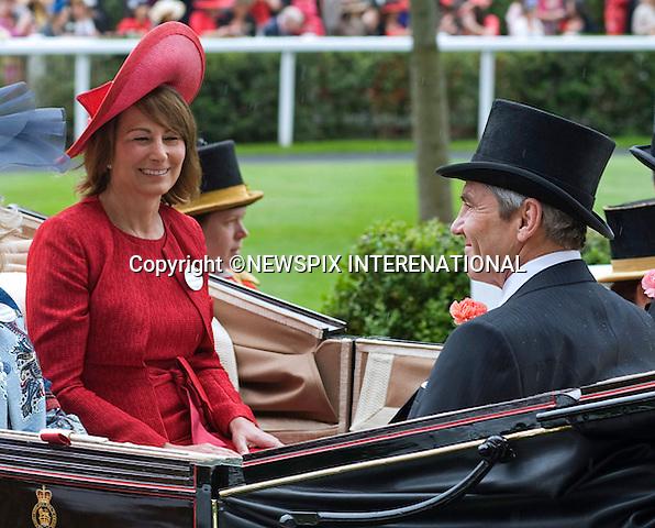 "CAROLE MIDDLETON AND MICHAEL MIDDLETON (Kate's Parents).Royal Ascot 2012 Ladies Day, Ascot_21/06/2012.Mandatory Credit Photo: ©Dias/NEWSPIX INTERNATIONAL..**ALL FEES PAYABLE TO: ""NEWSPIX INTERNATIONAL""**..IMMEDIATE CONFIRMATION OF USAGE REQUIRED:.Newspix International, 31 Chinnery Hill, Bishop's Stortford, ENGLAND CM23 3PS.Tel:+441279 324672  ; Fax: +441279656877.Mobile:  07775681153.e-mail: info@newspixinternational.co.uk"