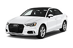 2017 Audi A3  Premium  4 Door Sedan angular front stock photos of front three quarter view