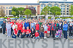 HAPPY HEART: A large crowed gathered at the Brandon Car Park, on Sunday to take part in the 8k Charity walk for the Irish Heart Foundation. .