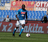Kalidou Koulibaly of Napoli   during the  italian serie a soccer match, AS Roma -  SSC Napoli       at  the Stadio Olimpico in Rome  Italy , March 31, 2019