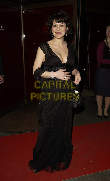 HELEN McRORY.The Royal Court Theatre 50th Anniversary Gala Party, Titanic Nightclub, London, UK..April 26th, 2006.Ref: CAN.full length black dress plunging neckline cleavage pregnant.www.capitalpictures.com.sales@capitalpictures.com.©Capital Pictures