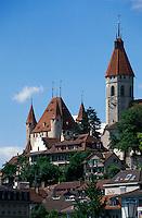 Schweiz, Schloss von Thun im Berner Oberland