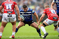 Nathan Catt of Bath Rugby in possession. Gallagher Premiership match, between Bath Rugby and Gloucester Rugby on September 8, 2018 at the Recreation Ground in Bath, England. Photo by: Patrick Khachfe / Onside Images