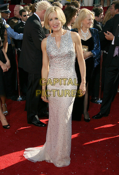 FELICITY HUFFMAN .60th Annual Primetime Emmy Awards held at the Nokia Theatre, Los Angeles, California, USA, .21 September 2008..emmys  full length long white silver beaded dress .CAP/ADM/MJ.©Michael Jade/Admedia/Capital Pictures
