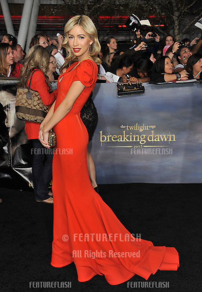 """Christian Serratos at the world premiere of """"The Twilight Saga: Breaking Dawn - Part 2"""" at the Nokia Theatre LA Live..November 12, 2012  Los Angeles, CA.Picture: Paul Smith / Featureflash"""