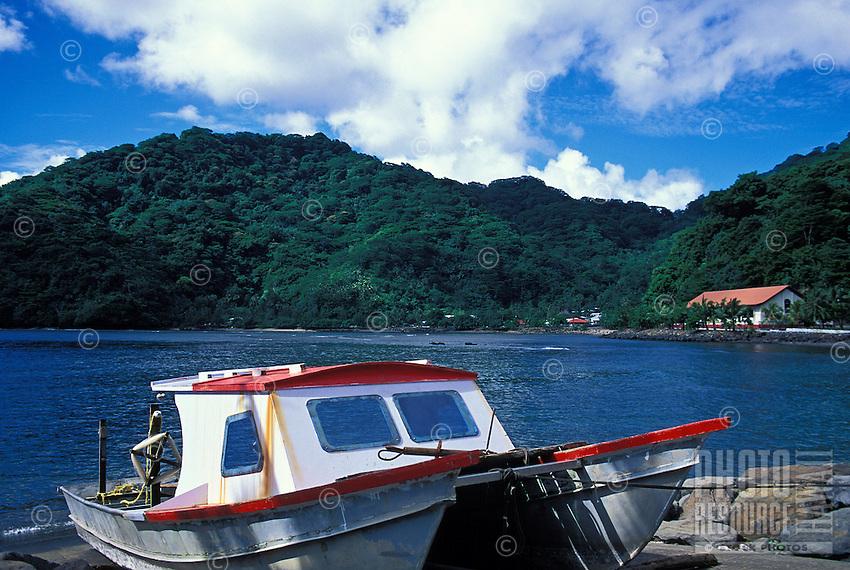 Boat at Fagasa, Tutuila, American Samoa