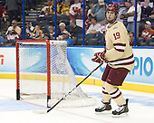 Chris Kreider (BC - 19) - The Boston College Eagles defeated the University of Minnesota Golden Gophers 6-1 in their 2012 Frozen Four semi-final on Thursday, April 5, 2012, at the Tampa Bay Times Forum in Tampa, Florida.