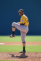 Pittsburgh Pirates pitcher Edgar Santana (36) during an instructional league intrasquad black and gold game on October 2, 2015 at Pirate City in Bradenton, Florida.  (Mike Janes/Four Seam Images)