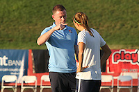 Piscataway, NJ - Wednesday Sept. 07, 2016: Christy Holly prior to a regular season National Women's Soccer League (NWSL) match between Sky Blue FC and the Orlando Pride FC at Yurcak Field.