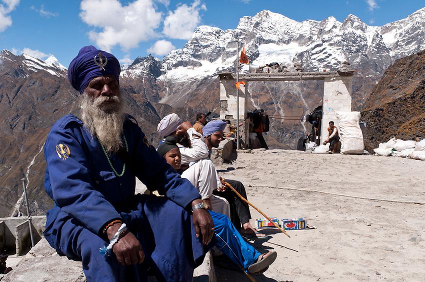 A Sikh at Hem Kund