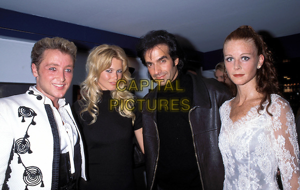 MICHAEL FLATLEY, CLAUDIA SCHIFFER, DAVID COPPERFIELD, JEAN BUTLER .Ref: 1339.www.capitalpictures.com.sales@capitalpictures.com.© Capital Pictures.supermodel