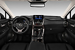 Stock photo of straight dashboard view of a 2018 Lexus NX 300 FWD 5 Door SUV