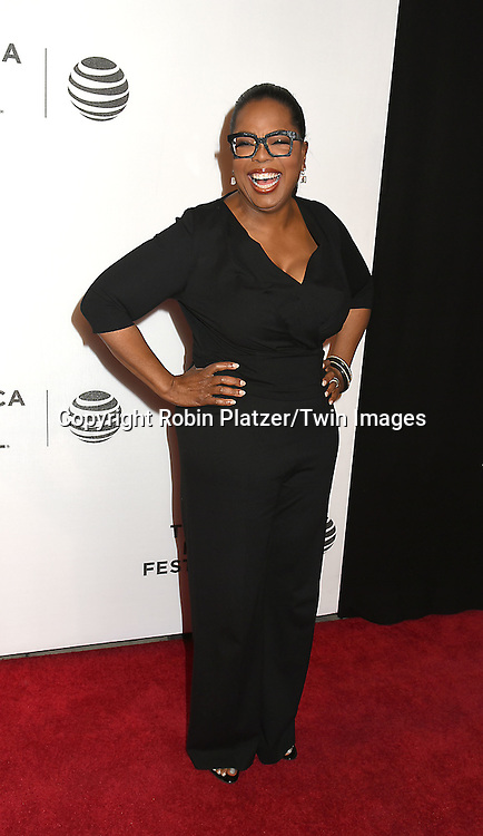 Executive Producer and actress Oprah Winfrey attends the &quot;Greenleaf&quot; world premiere at The Tribeca Film Festival on April 20, 2016 at the John Zuccotti Theater @ BMCC Tribeca Performing Arts Center in New York, New York, USA. The new original drama Series is from the OWN Network.<br /> <br /> photo by Robin Platzer/Twin Images<br />  <br /> phone number 212-935-0770