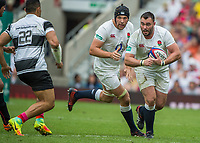 Twickenham, Surrey, United Kingdom.  Will COLLIER, supported by Charlie EWELS, during the, Old Mutual Wealth Cup, England vs Barbarian's match, played at the  RFU. Twickenham Stadium, on Sunday   28/05/2017England    <br />