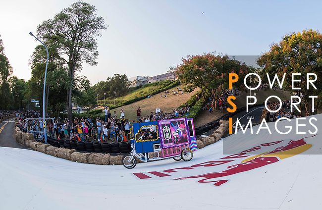 Team Bull 4 臭男生  in action during the Red Bull Soapbox Race 2017 Taipei at Multipurpose Gymnasium National Taiwan Sport University on 01 October 2017, in Taipei, Taiwan. Photo by Victor Fraile / Power Sport Images