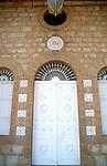 Israel, Haifa. A door at the Bahai Shrine on Mount Carmel&#xA;&#xA;&#xA;<br />