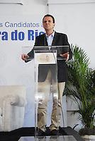 ELEI&Ccedil;&Otilde;ES 2012 - EDUARDO PAES PREFEITO E CANDIDATO A REELEI&Ccedil;&Atilde;O.<br /> RIO DE JANEIRO,RJ  21 DE AGOSTO 2012 - Nesta manh&atilde; de ter&ccedil;a feira 21, o prefeito da cidade do Rio de Janeiro, almo&ccedil;a na associa&ccedil;&atilde;o comercial da cidade do Rio de Janeiro.<br /> FOTO RONALDO BRAND&Atilde;O/BRAZILPHOTO PRESS