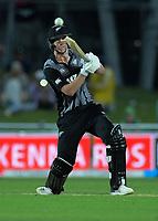 New Zealand's Blair Tickner bats during the 4th Twenty20 International cricket match between NZ Black Caps and England at McLean Park in Napier, New Zealand on Friday, 8 November 2019. Photo: Dave Lintott / lintottphoto.co.nz