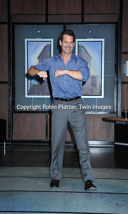 """Tuc Watkins taking a curtain call at The Opening night of """"White's Lies"""" on May 6, 2010 at New World Stages in New York City. The show stars Betty Buckley, Tuc Watkins, Peter Scolari and Christy Carlson Romano."""