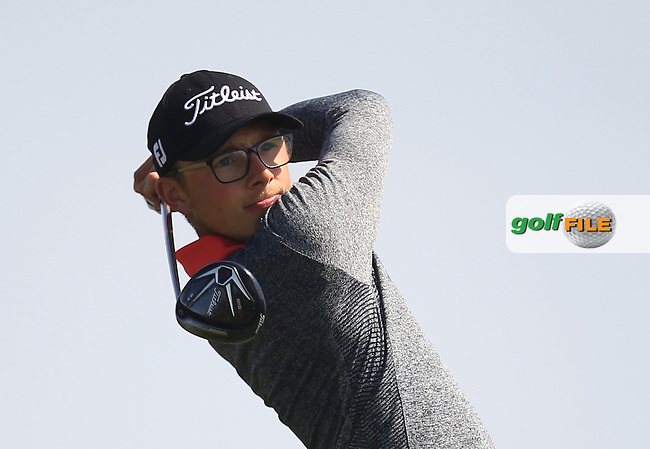 George Bloor (ENG) on the 14th tee during Round 4 of the Flogas Irish Amateur Open Championship at Royal Dublin on Sunday 8th May 2016.<br /> Picture:  Golffile / Thos Caffrey