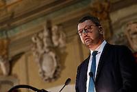 Il Sottosegretario Gennaro Migliore parla durante la cerimonia di innagurazione anno giudiziario in Campania <br /> Salone dei Busti Castel Capuano Napoli
