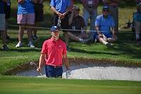 Jordan Spieth (USA) looks over his pitch from the sand on 1 during round 3 of the Fort Worth Invitational, The Colonial, at Fort Worth, Texas, USA. 5/26/2018.<br /> Picture: Golffile | Ken Murray<br /> <br /> All photo usage must carry mandatory copyright credit (&copy; Golffile | Ken Murray)