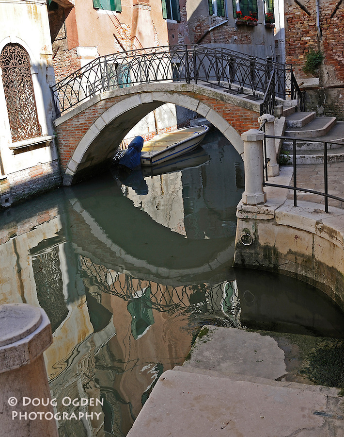 reflections, canal, Venice, Italy