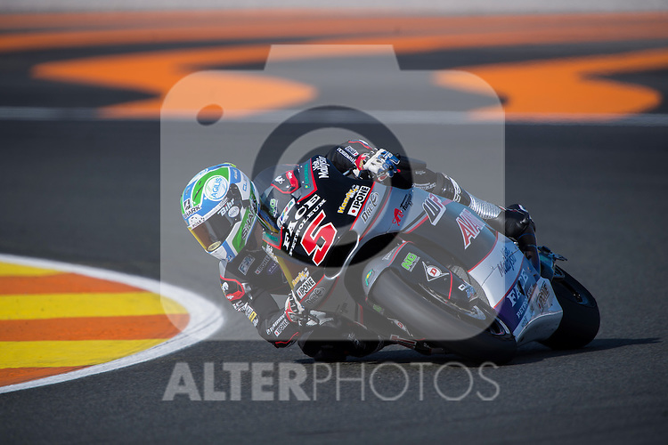 VALENCIA, SPAIN - NOVEMBER 11: Johann Zarco during Valencia MotoGP 2016 at Ricardo Tormo Circuit on November 11, 2016 in Valencia, Spain